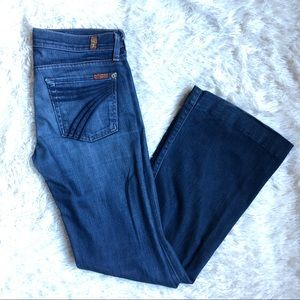 7 For All Mankind Dojo Flare Leg Trouser Jeans 27
